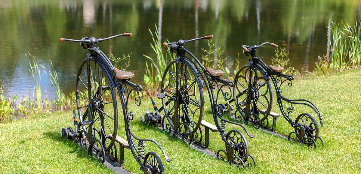 Велосипеды, фонтан в КП Трувиль