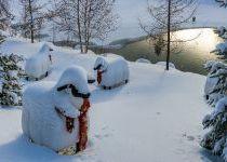 Выпал новогодний снег в КП Трувиль