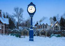 Часы в КП Трувиль, зима